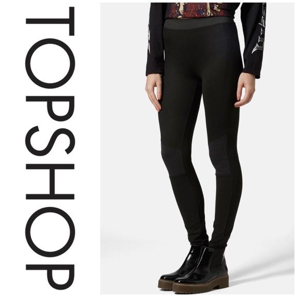 7e03d6be572fe Topshop Pants   Moto Biker Knee Ponte Leggings   Poshmark